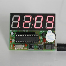 Accurate C51 Electronic Clock 4 Bits Clock Kit DIY Electronic DIY Kit LED Display Electronic Modules DIY Electronic Modules