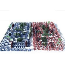 270 Pcs /lot Nostalgic Toy Soldier Kit Figures Military Army Men Sand Scene miniature 1 35 resin models village roads and broken wall scene soldier sand scene accessories
