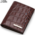 Men wallet/purse Genuine leather crocodile grain short wallet Han edition Classical luxury brand Male wallets/carteira masculina