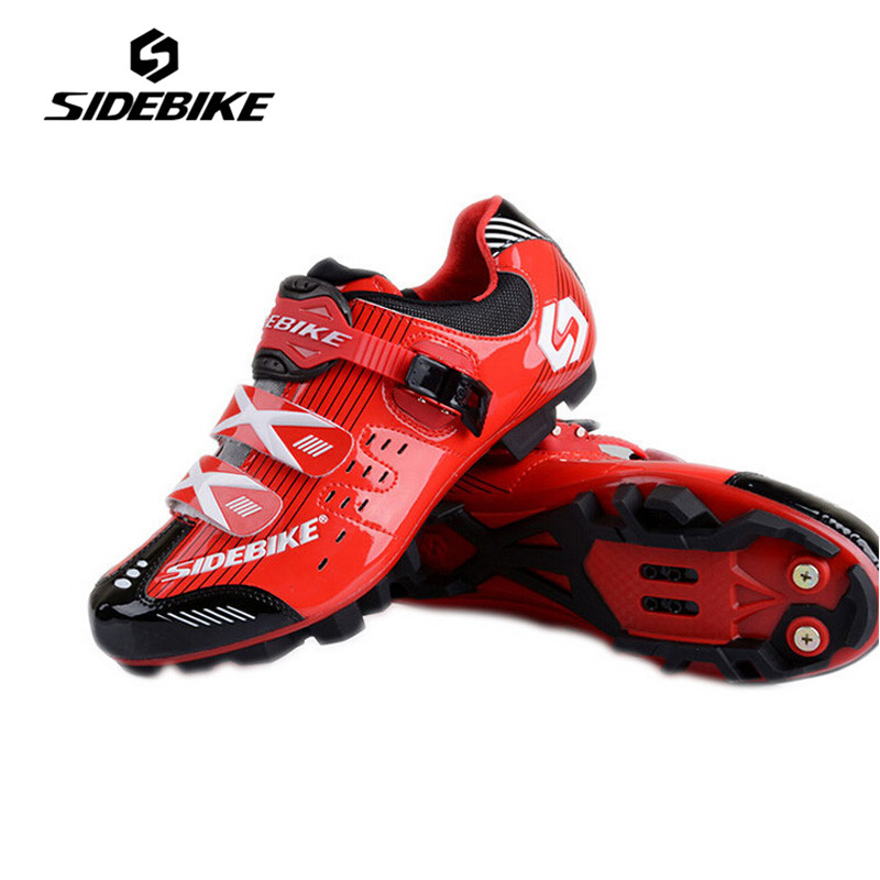 SIDEBIKE Red Color Breathable Pro Bicycle Shoes Nonslip Rubber Sole Zapatillas Ciclismo Road MTB Cycling Bike Shoes Sneakers sidebike mens road cycling shoes breathable road bicycle bike shoes black green 4 color self locking zapatillas ciclismo 2016