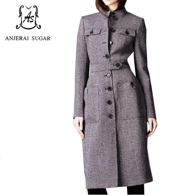 Шерстяное пальто женское манто femme сексуальное зимнее пальто кашемировое шерстяное до щиколотки пальто OL офисный Тренч шерстяное женское д