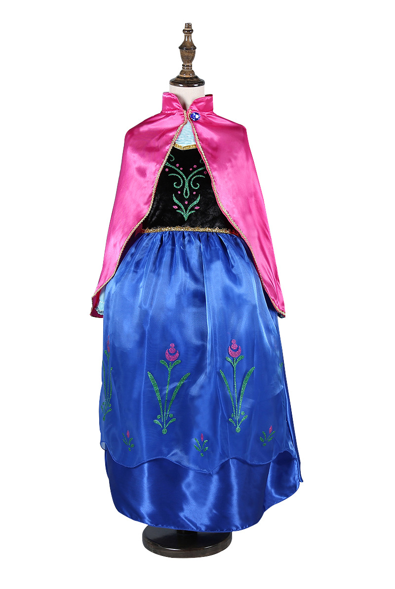 HTB1cWmGnrYI8KJjy0Faq6zAiVXao Queen Elsa Dresses Elsa Elza Costumes Princess Anna Dress for Girls Party Vestidos Fantasia Kids Girls Clothing Elsa Set