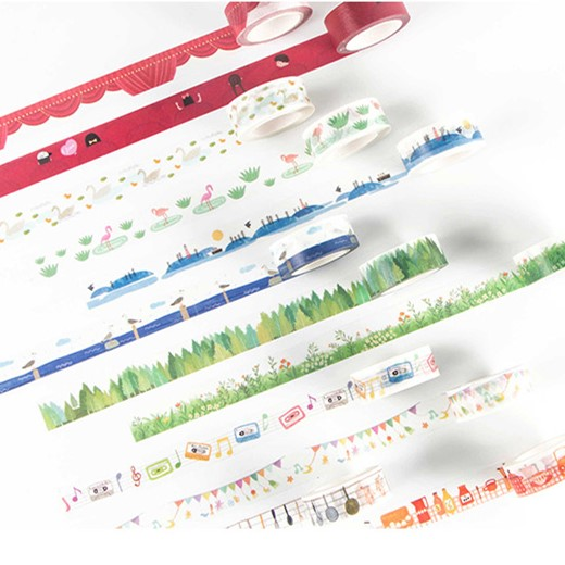 Happy Life Washi Tape DIY Decorative Scrapbooking Sticker Planner Masking Adhesive Tape Label Stationery