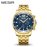 MEGIR Chronograph Quartz Men Watch Top Brand Luxury Army Military Wrist Watches Clock Men Relogio Masculino