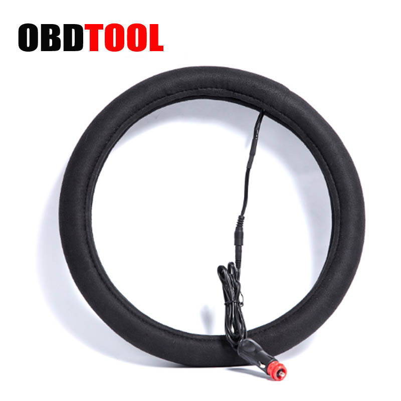 Heated Front Seats And Steering Wheel: Hot Black 12V Car Heated Steering Wheel Cover Diam 38CM