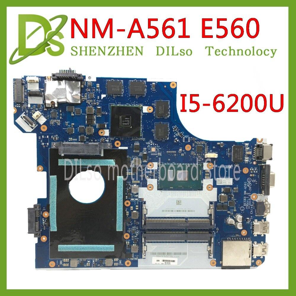 KEFU E560 per Lenovo Thinkpad E560 E560C EB560 NM-A561 FRU: 01AW103 NM-A561 con i5-6200U CPU HD Grafica originale mothebroardKEFU E560 per Lenovo Thinkpad E560 E560C EB560 NM-A561 FRU: 01AW103 NM-A561 con i5-6200U CPU HD Grafica originale mothebroard