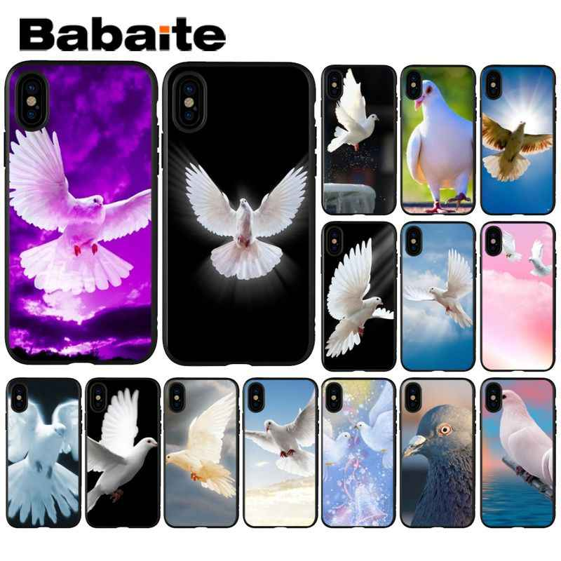 Babaite Peace Pigeon Dove Coque Shell Phone Case for iPhone 5 5Sx 6 7 7plus 8 8Plus X XS MAX XR