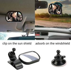 Image 5 - 2 in 1 Mini Children Rear Convex Mirror Car Back Seat Baby Mirror Adjustable Auto Kids Monitor Safety Car Rearview mirror