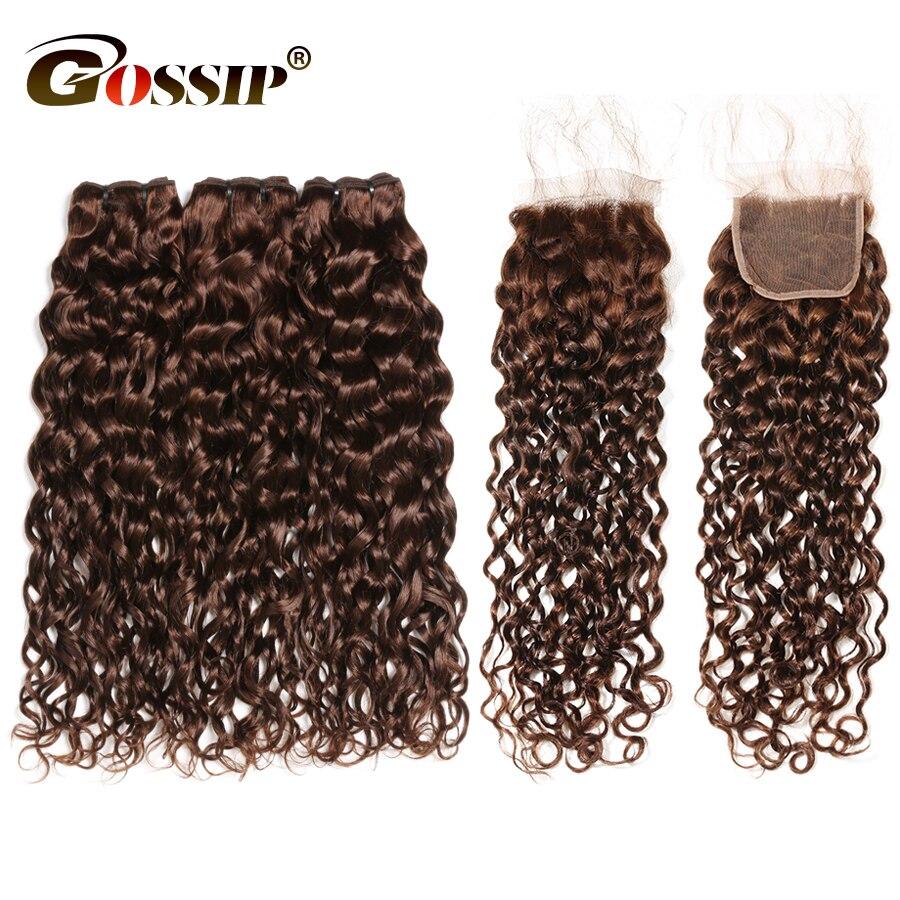 Water Wave Bundles With Closure Brazilian Hair Weave Bundles With Closure 100 Human Hair Bundles With