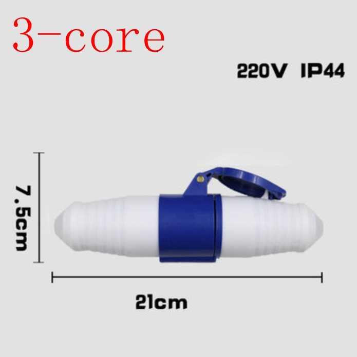 Plugue da aviação tomada industrial conector à prova d' água 3 core 4 core 5 core 220 v/16A IP44 aviação butt plug