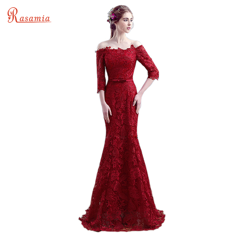 Red Mermaid Style Prom Dresses
