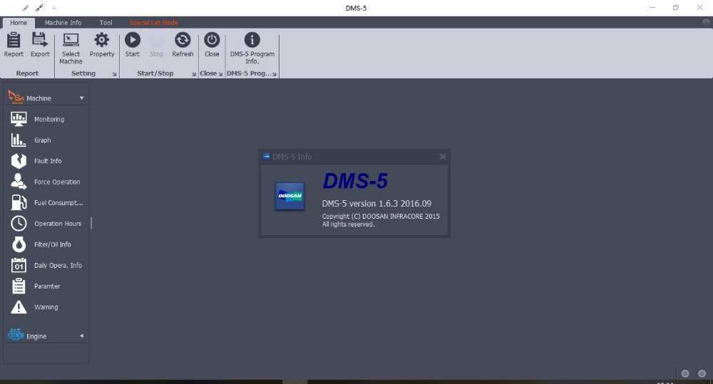 Doosan Excavator Wheel Loader Monitoring Program DMS 5