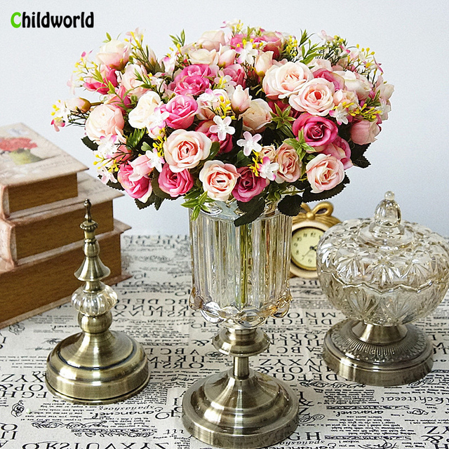 Home Furnishing Small Bouquet of Flowers European Cabaret Small ...