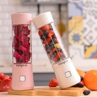 2019 480ml USB Mini Blender Glass Bottle Juicer 6 Blades Portable Fruits Mixer Meat Grinder Juice Maker Machine Drop Shipping