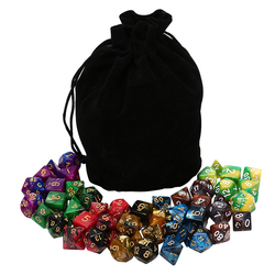 49 pces polyhedral dice dnd dice duplo cores dados com bolsa para dnd rpg mtg jogos d4 d6 d8 d10 d % d12 d20