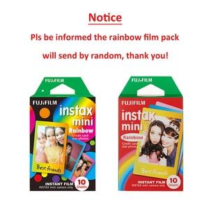 Image 5 - Для Fujifilm Instax Mini 11 8 9 25 90 пленочная камера, 50 листов мгновенная фотография Радуга, полоса, блестящая Звезда, конфеты поп, витражное стекло