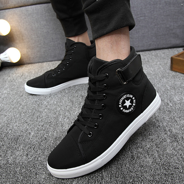 2017 new high to sport white canvas shoes men classic trend board shoes  outdoor comfortable running