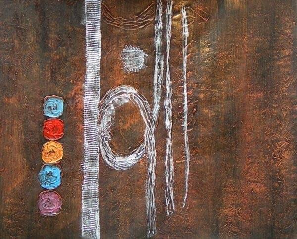 main mur peint lhuile art trois couleurs dcoration de la maison moderne abstraite peinture lhuile sur toile 16x16 pouce mixorde encadre