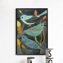 Bianche Wall Animals Birds Nightingale Retro Decor Canvas Creative Art Style Painting Print Picture Poster Home