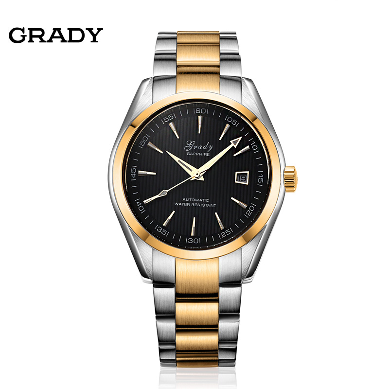 Grady Fashion Casual Stainless Steel Men Mechanical Watch Skeleton Watch For Men Dress Wristwatch free shipping ik luxury fashion casual stainless steel men automatic mechanical watch skeleton watch for men s dress wristwatch free ship