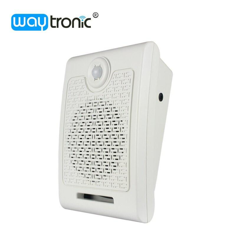 imágenes para Voz inducción del cuerpo dispositivo indicador 24 V Sensor de movimiento activado alarma altavoz para pública difusión de la voz