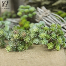 mini Succulent Plant DIY Micro Landscape Material Artificial Plastic Fake Grass Flower Potted Office Home Garden Wall Decortion