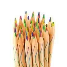 10 шт./лот DIY милый Kawaii Деревянный Цветной Карандаш Деревянный карандаш всех цветов радуги для детей школы граффити Рисование Живопись