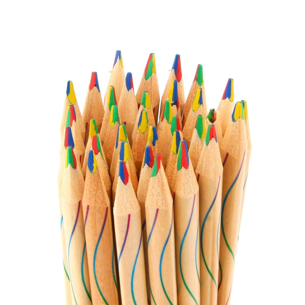 10Pcs/lot DIY Cute Kawaii Wooden Colored Pencil Wood ...
