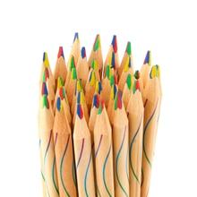 10Pcs/lot DIY Cute Kawaii Wooden Colored Pencil Wood Rainbow Color for Kid School Graffiti Drawing Painting
