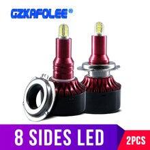 Светодиодный светильник с 8 боками CSP h7 HB3 9005 HB4 5202 H1 H3 H8 H11, противотуманный светильник 880 881 H27, светодиодный светильник 9012, автомобильная лампа ближнего и дальнего света 13500LM