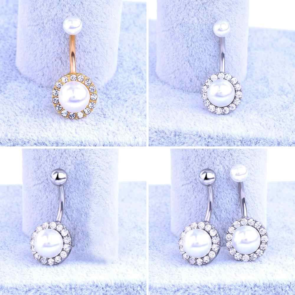 מזויף מחץ רפואי טיטניום סקסי פרל טבור פירסינג טבור טבעת פירסינג Helix Labret פירסינג תכשיטים