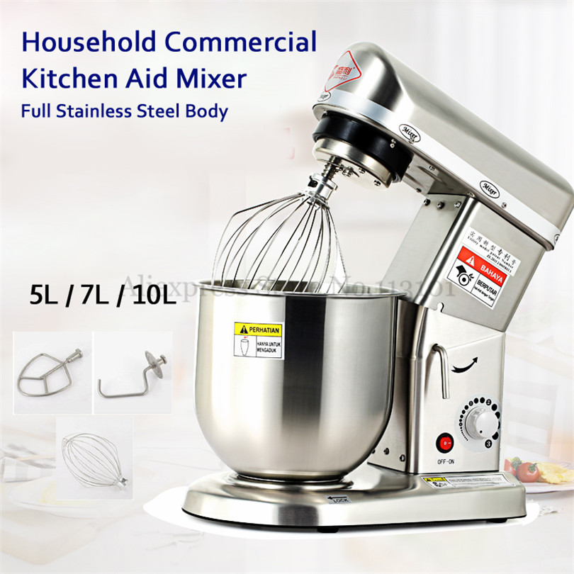 Stainless Steel Stand Mixer Home Use Commercial Dough Kneading Mixer 7L Egg Beater Multifunction 220V~240V CE Approval