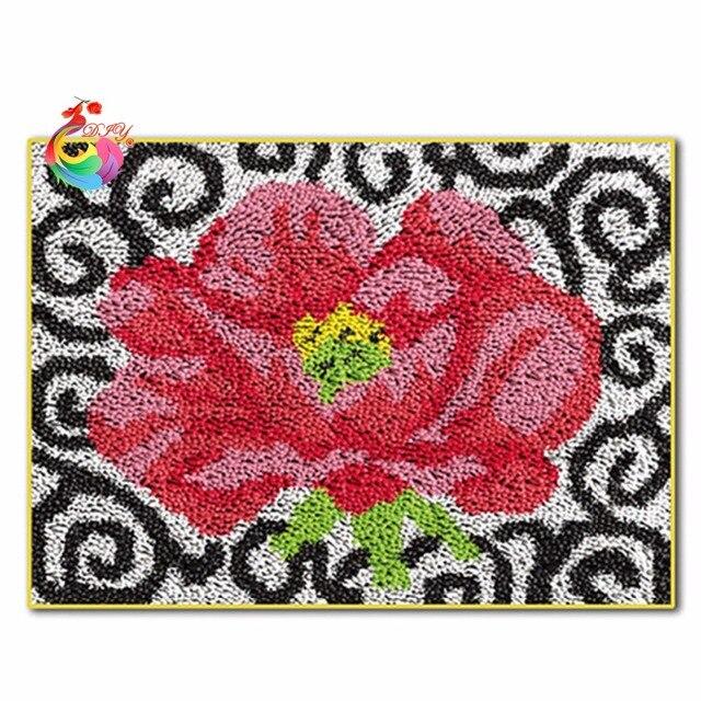 Handmade Carpet Sch Threads Kids Room Carpets And Rugs Mats Latch Hook Rug Kits
