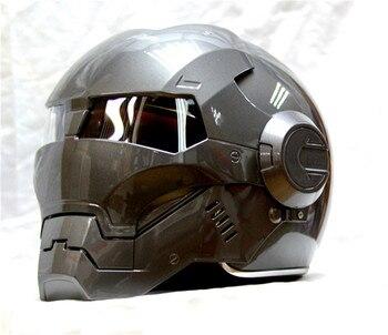 Мотоциклетный шлем Masei, серый классический мотоциклетный шлем с открытым лицом