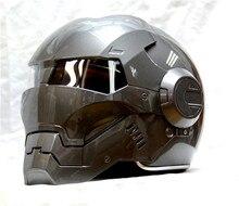 Masei bike scooter moto grigio classico iron man casco moto casco mezzo casco aperto del fronte del casco motocross