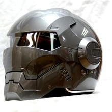 Masei bike scooter moto gray Classic iron man helmet motorcycle helmet