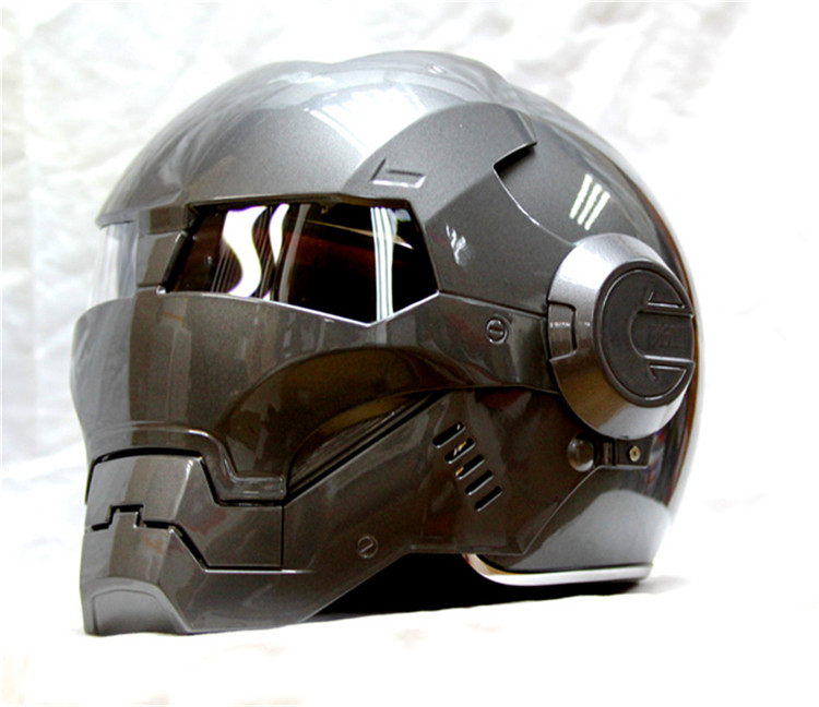 Masei  bike scooter moto gray Classic iron man  helmet motorcycle helmet half helmet open face helmet casque motocross недорого