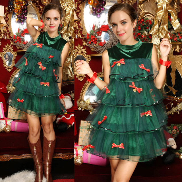 Christmas Tree Costume.Aliexpress Com Buy 2017 New Cosplay Christmas Costume Green Christmas Tree Christmas Party Party Masquerade Dresses Costume From Reliable Costumes