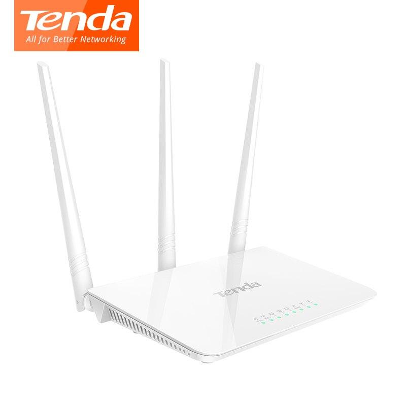 Tenda F3 300 Mbps Wireless Router configuración fácil versión WiFi inalámbrico 3 * 5dBi antenas externas envío libre ruso
