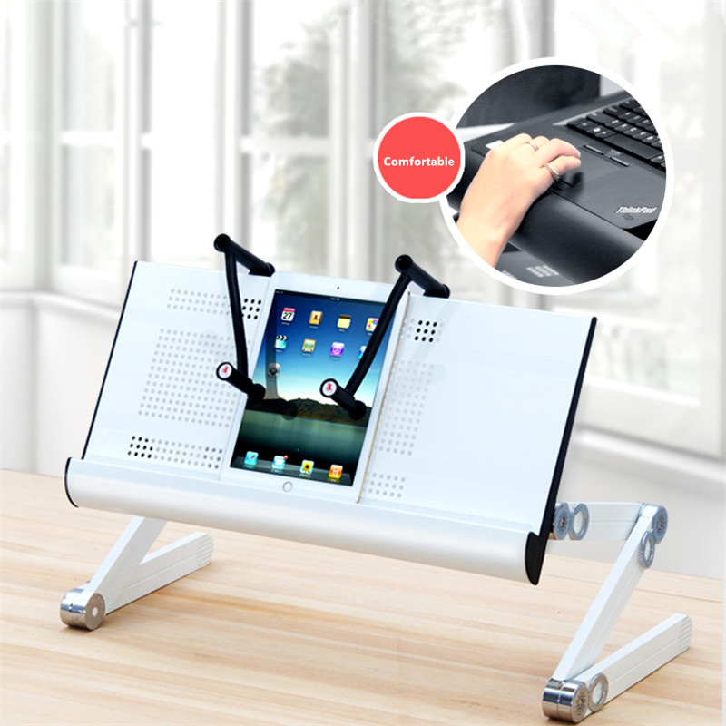 Fast Deliver Notebook Stand Support Mac Aluminum Alloy Laptop Stand Bed Lazy Lift Table Cooling Bracket Buy One Get One Free