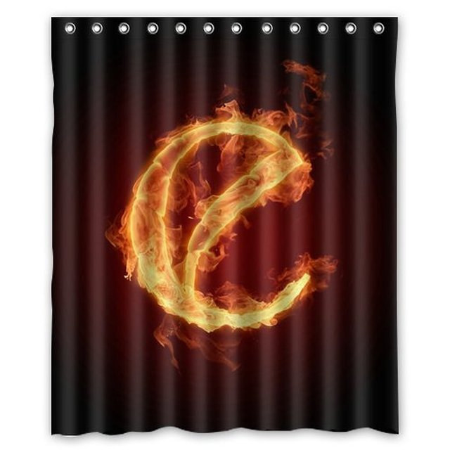 Exceptionnel Beautiful Alphabets Letter E On Burning Fire Shower Curtain 60 X 72 Inch  Bathroom