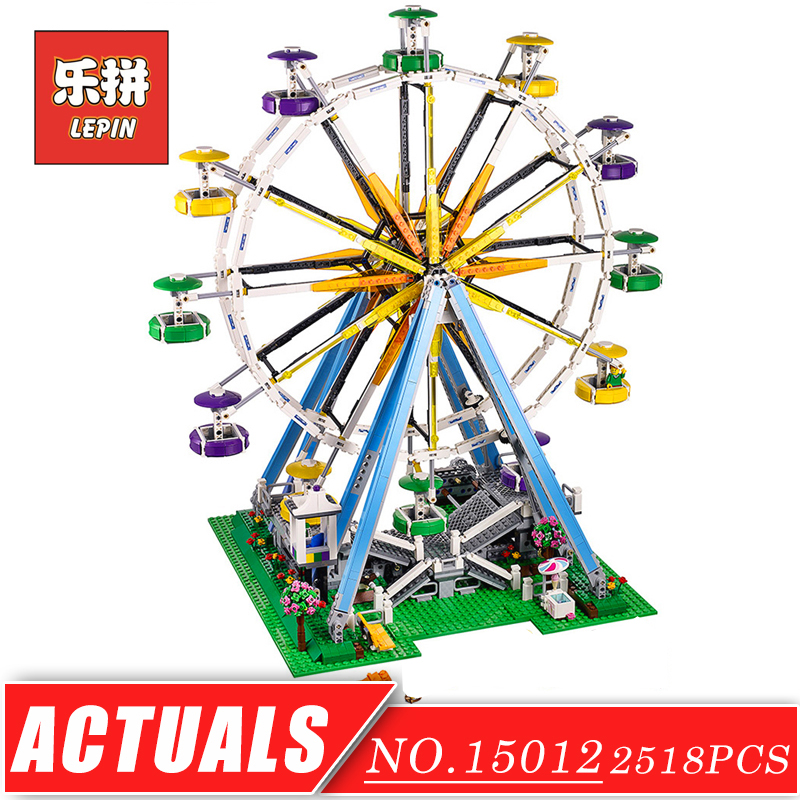 LEPIN 15012 Creator City Street Park Playground Ferris Wheel Model Building Blocks Bricks Set DIY Collection Toys for Children