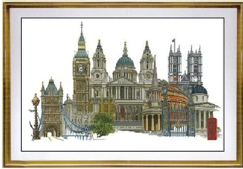 Gold Collection Counted Cross Stitch Kit London England United Kingdom Famous City Series tg 470