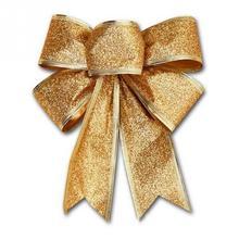 2018 New Ribbon Christmas Decoration Bow pendant ornaments Santa Claus bell of Christmas tree Bows Christmas decorations trees