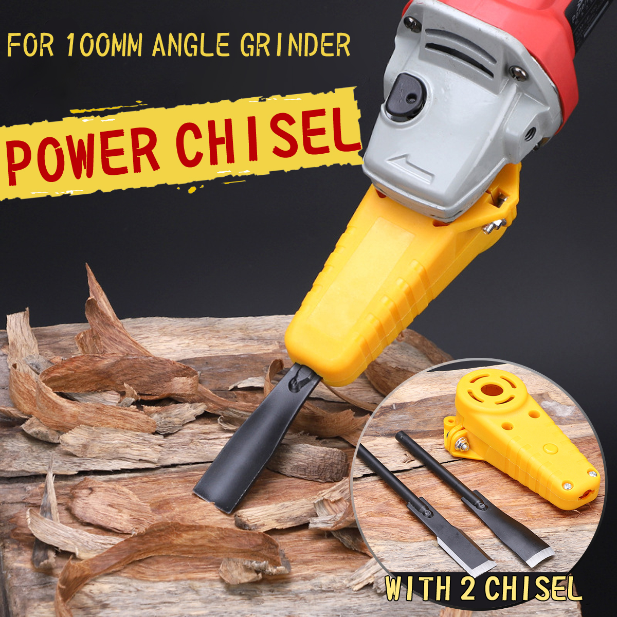 Woodworking Power Chisel Wood Carving Electric Chisel M10 Adapter Set Changed 100 Angle Grinder Into Tool free shipping domestic woodworking high power electric tool portable electric planer