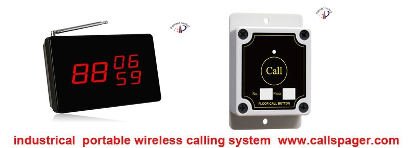 Free shipping 1pcs displayer 20pcs callbuttonIndusctrical wireless calling system elevator calling system portable display