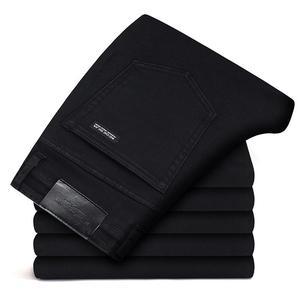 Image 1 - Marki spodnie jeansowe męskie ubrania 2020 nowe czarne elastyczność obcisłe dżinsy rurki Business Casual męskie spodnie jeansowe obcisłe spodnie w stylu klasycznym