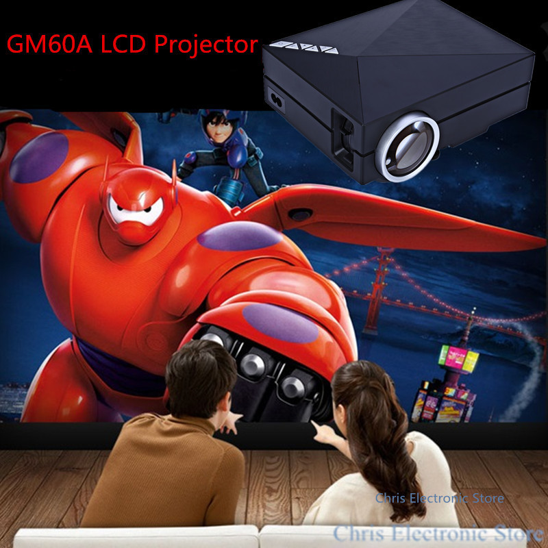GM60A LED Home Theater Projector Upgraded Built-in DLNA Miracast Airplay 800x480 Mini Metal HD 1080P Video Beamer