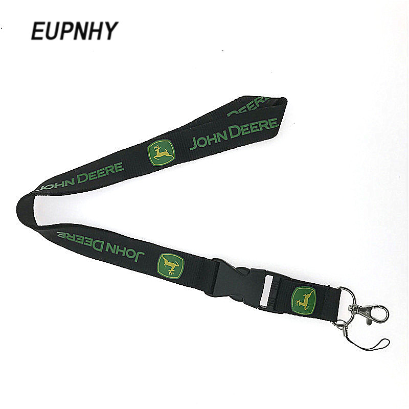 EUPNHY John Deere Logo Pattern Lanyard 10Pcs Detachable John Deere Keychain Cell Phone Neck Strap Lanyard Office School Supplies цена