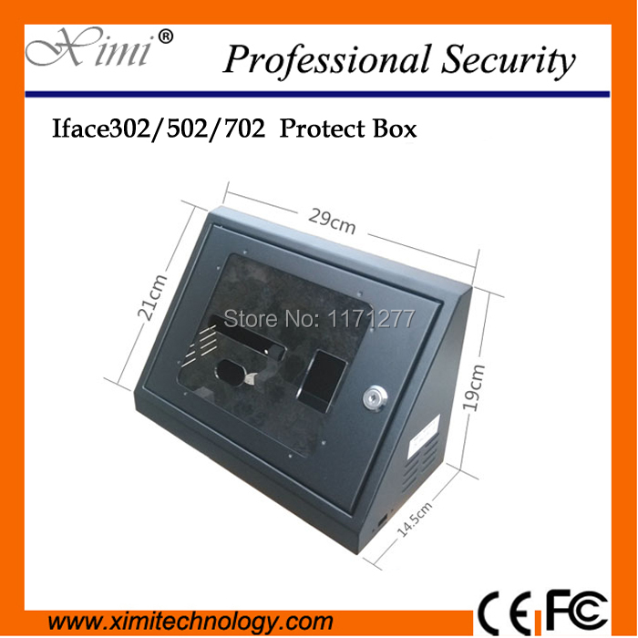 New arival high quality ZK iface302/iface502/iface702 face time attendance protect box metal box with key safety cover